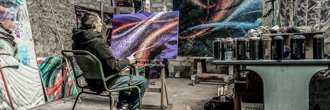 French Graffiti Artist Astro in his studio with Art Street & Stories