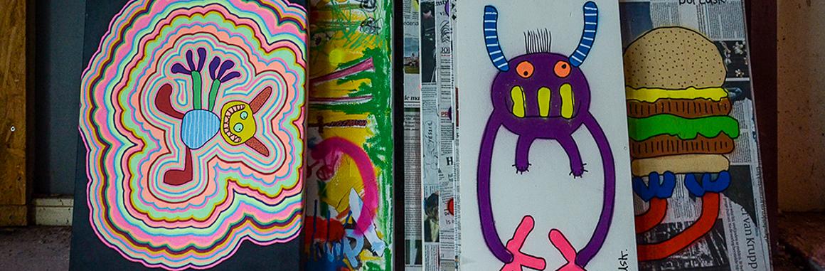 Amsterdam based Street Artist Bortusk Leer in his studio with Art Street & Stories